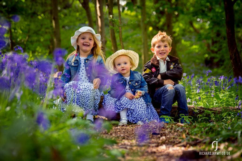 Pop Up Photoshoot - Bluebells, woodland - Richard Jarmy Photography - Wedding commercial event Photographer