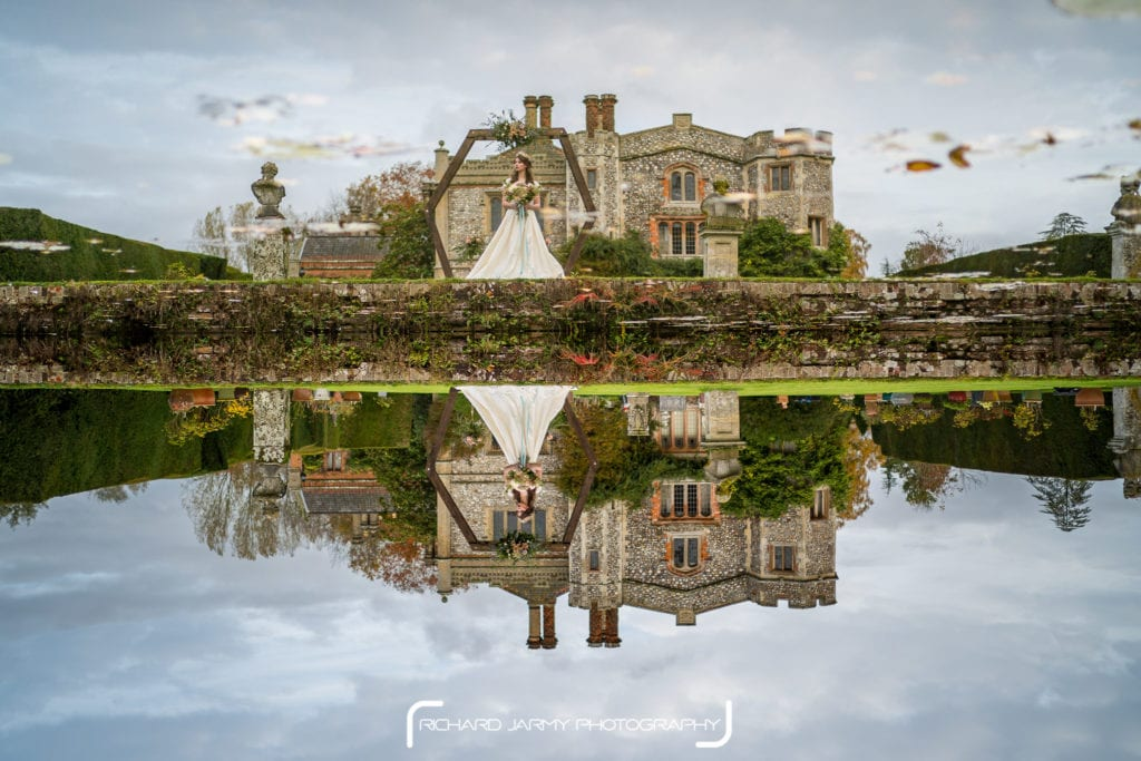 Mannington Hall Moat Reflection Bride